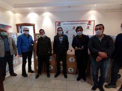Vangölü Gazeteciler Cemiyetinden üyelerine gıda paketi