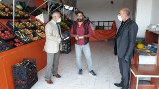 Başkan Ensari'den esnaf ziyareti