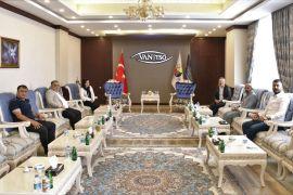 Başkan Takva, sigorta acentelerinin yetkilileriyle bir araya geldi