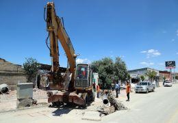 Hacıbekir Caddesi'nde yenileme çalışması