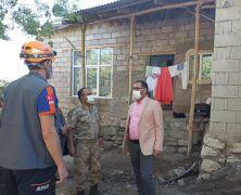 Kaymakam Sayar deprem bölgesinde