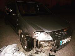 Erciş'te araç yangını