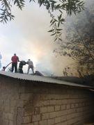 Erciş'te korkutan yangın