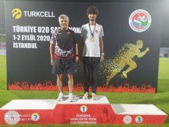 Belediye Başkan Şefik Ensari Çaldıranlı milli sporcuyu tebrik etti