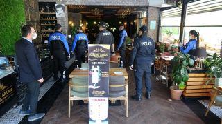 Van polisi, iş yerlerinde kapsamlı korona virüs denetimi yaptı