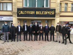 Oda başkanlarından Belediye Başkanı Ensari'ye ziyaret