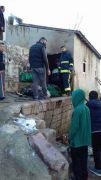 Özalp ilçesinde tandır evi yandı