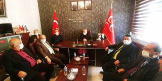 Kadim Aşiretler Federasyonundan MHP'ye ziyaret