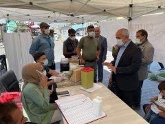Çaldıran'da korona virüs aşı çadırına yoğun ilgi