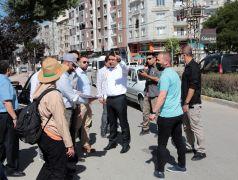 Erek Dağı Caddesi'nde yenileme çalışmaları başladı